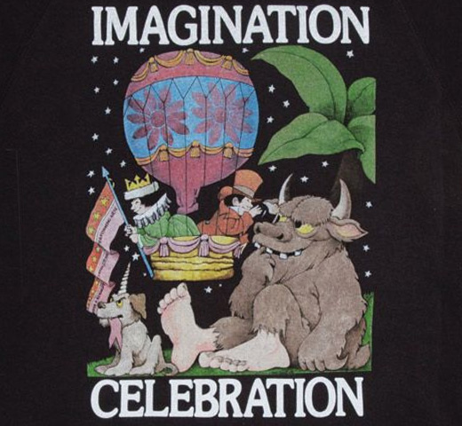 【Out of Print】 Maurice Sendak / IMAGINATION CELEBRATION Sweatshirt (Black)
