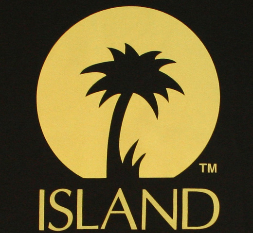 【Worn Free】 Island Records / Logo Tee (Black)