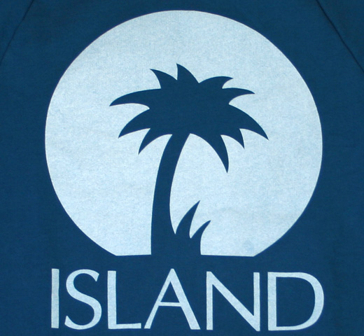 【Worn Free】 Island Records / Logo Sweatshirt (Royal)