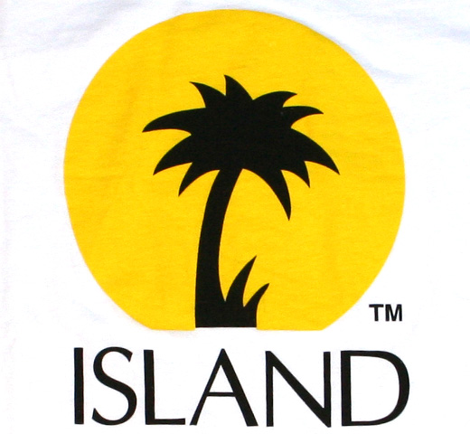 【Worn Free】 Island Records / Logo Tee (White)