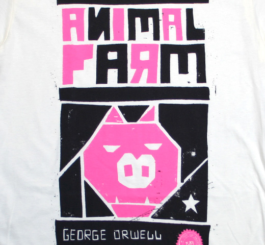 【Out of Print】 George Orwell / Animal Farm Tee (Ivory) (Womens)