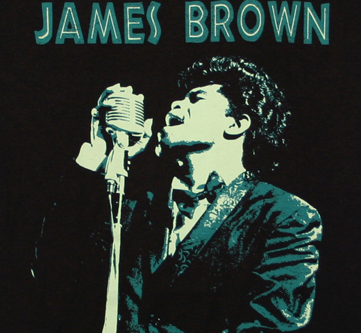 James Brown / Singing Portrait Tee (Black)