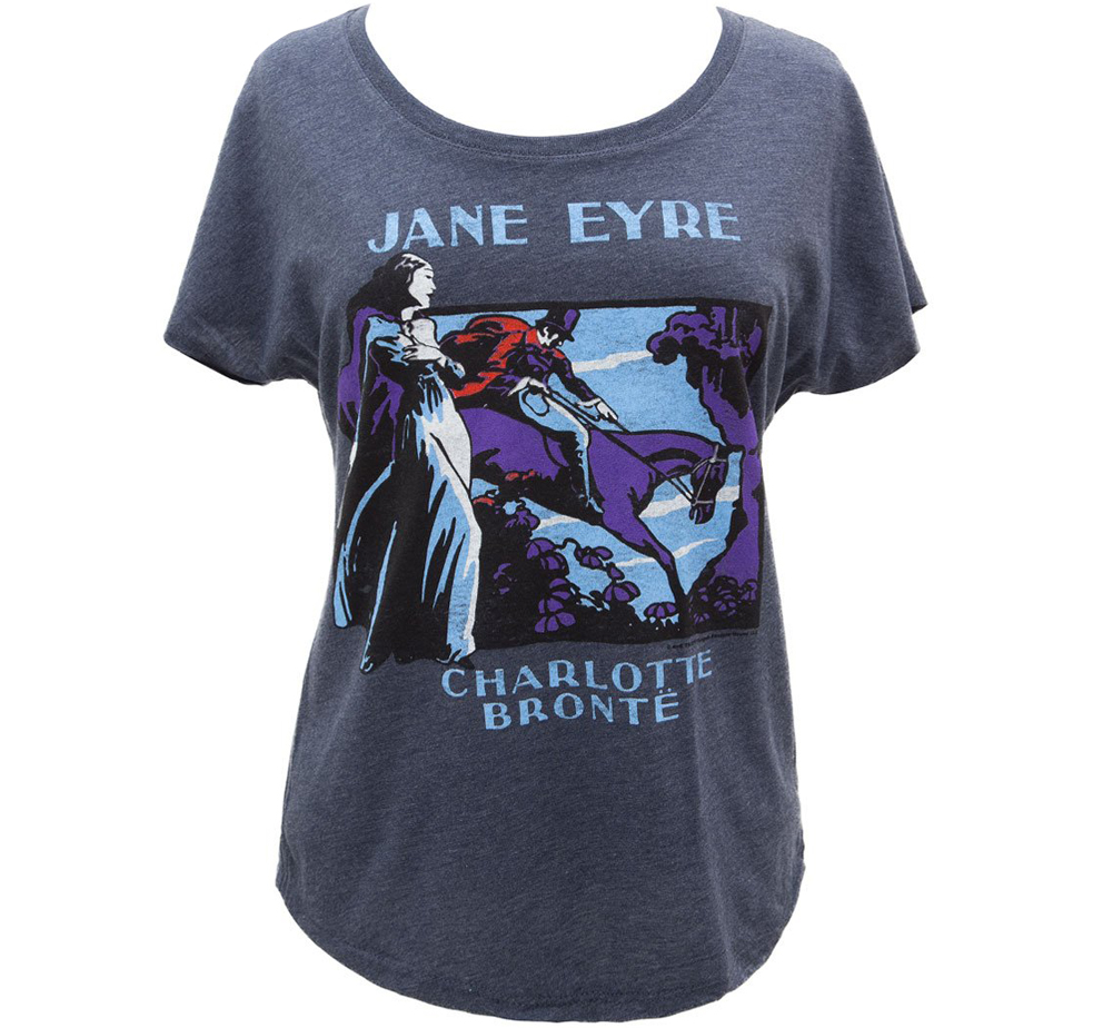 [Out of Print] Charlotte Brontë / Jane Eyre Relaxed Fit Tee (Vintage Navy) (Womens)