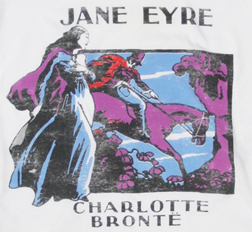 【Out of Print】 Charlotte Brontë / Jane Eyre Scoop Neck Tee (White) (Womens)