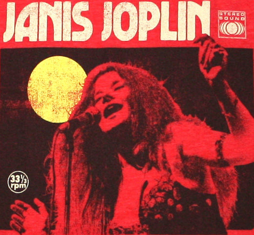 Janis Joplin / Rhode Island, 1968 Tee (Heather Orange)