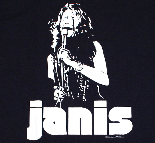 Janis Joplin / Be True To Yourself Tee (Dark Navy)