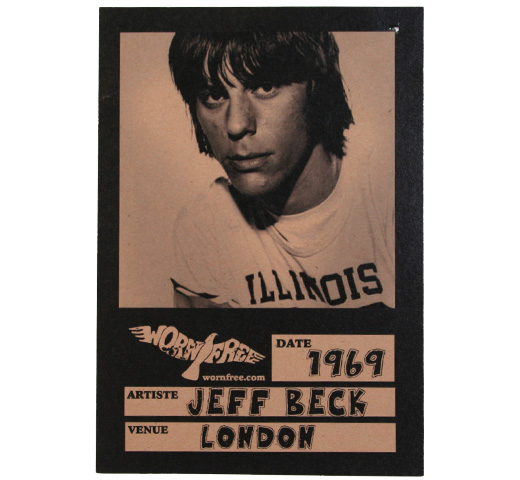 【Worn Free】 Jeff Beck / Illinois 69 Tee (Vintage White)