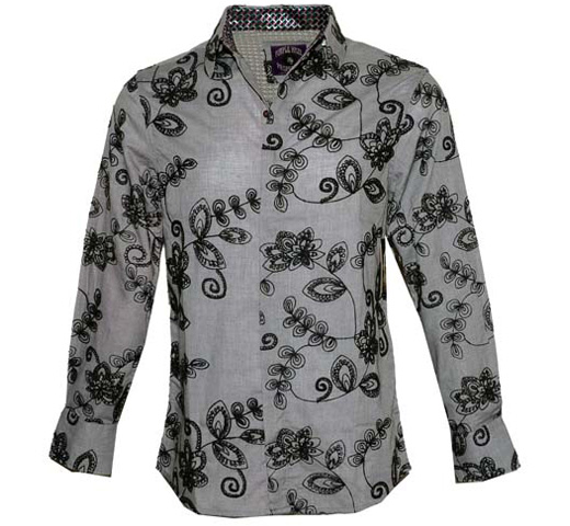 [JIMI HENDRIX COLLECTION] 3rd Stone From the Sun Dress Shirt (Black)