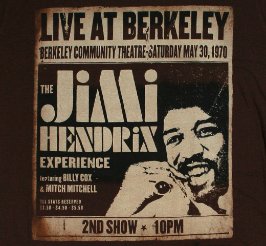 The Jimi Hendrix Experience / Live at Berkeley Tee (Brown)