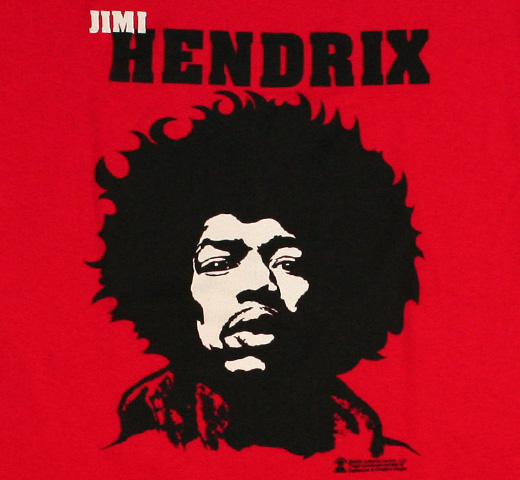 Jimi Hendrix / Portrait tee (Red)