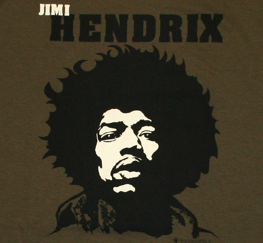 Jimi Hendrix / Portrait tee (Military Green)
