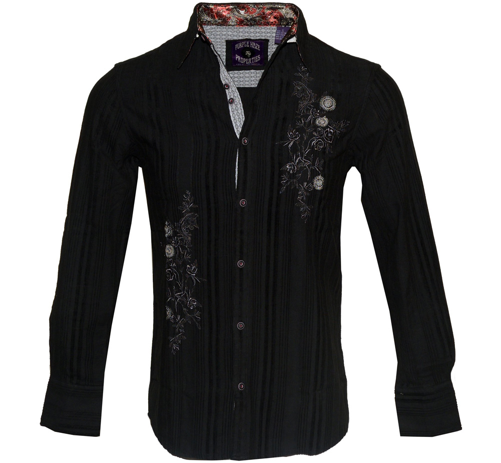[JIMI HENDRIX COLLECTION] EZY Rider Dress Shirt 2 (Black)