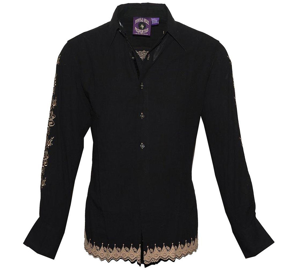 [JIMI HENDRIX COLLECTION] Gypsy Eyes Dress Shirt (Black)