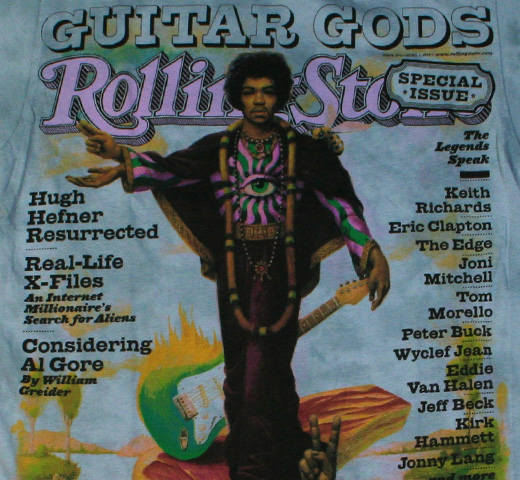 【Rolling Stone】Jimi Hendrix / Issue 809 Tee (Blue Cloud)