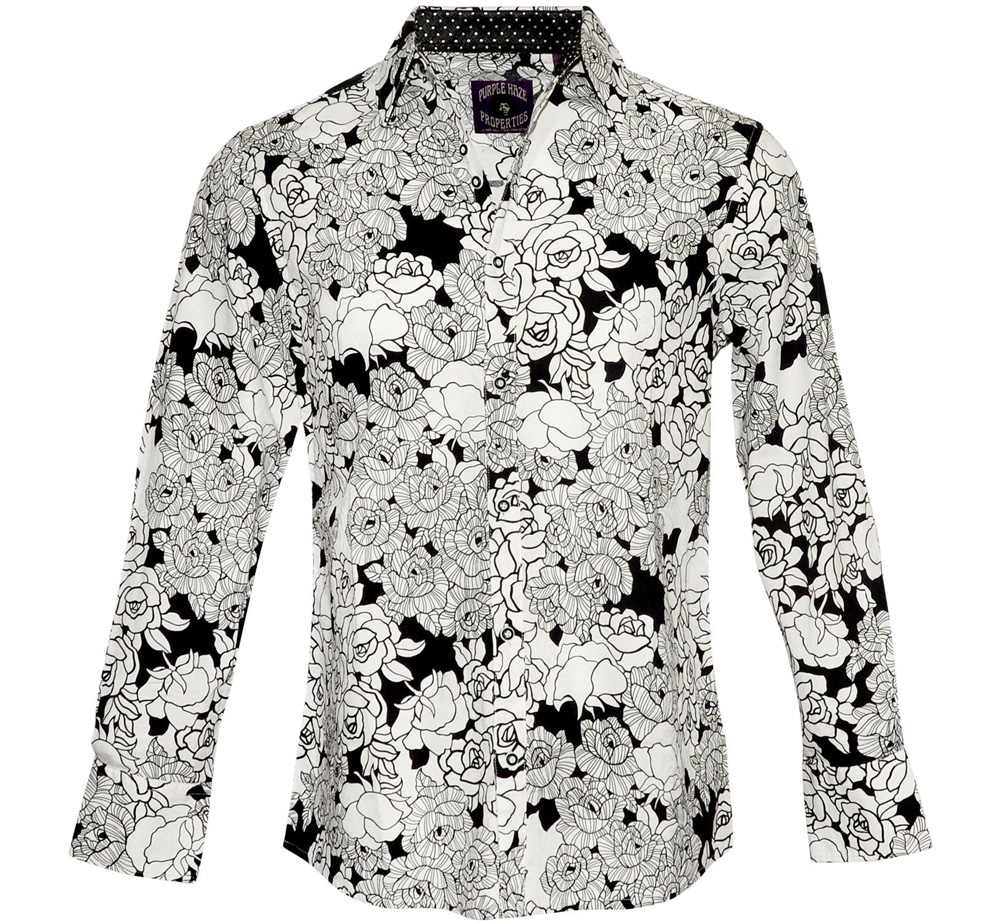 [JIMI HENDRIX COLLECTION] Message to the Universe Dress Shirt (White)