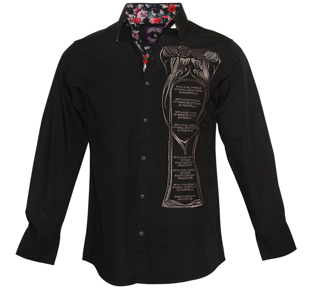 [JIMI HENDRIX COLLECTION] Power of Soul Dress Shirt (Black)