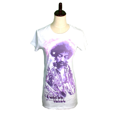 Jimi Hendrix / Purple Haze Tee (White) (Womens)