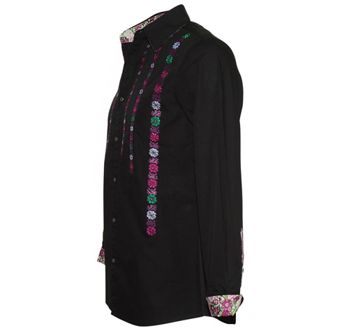 [JIMI HENDRIX COLLECTION] Purple Haze Dress Shirt (Black)