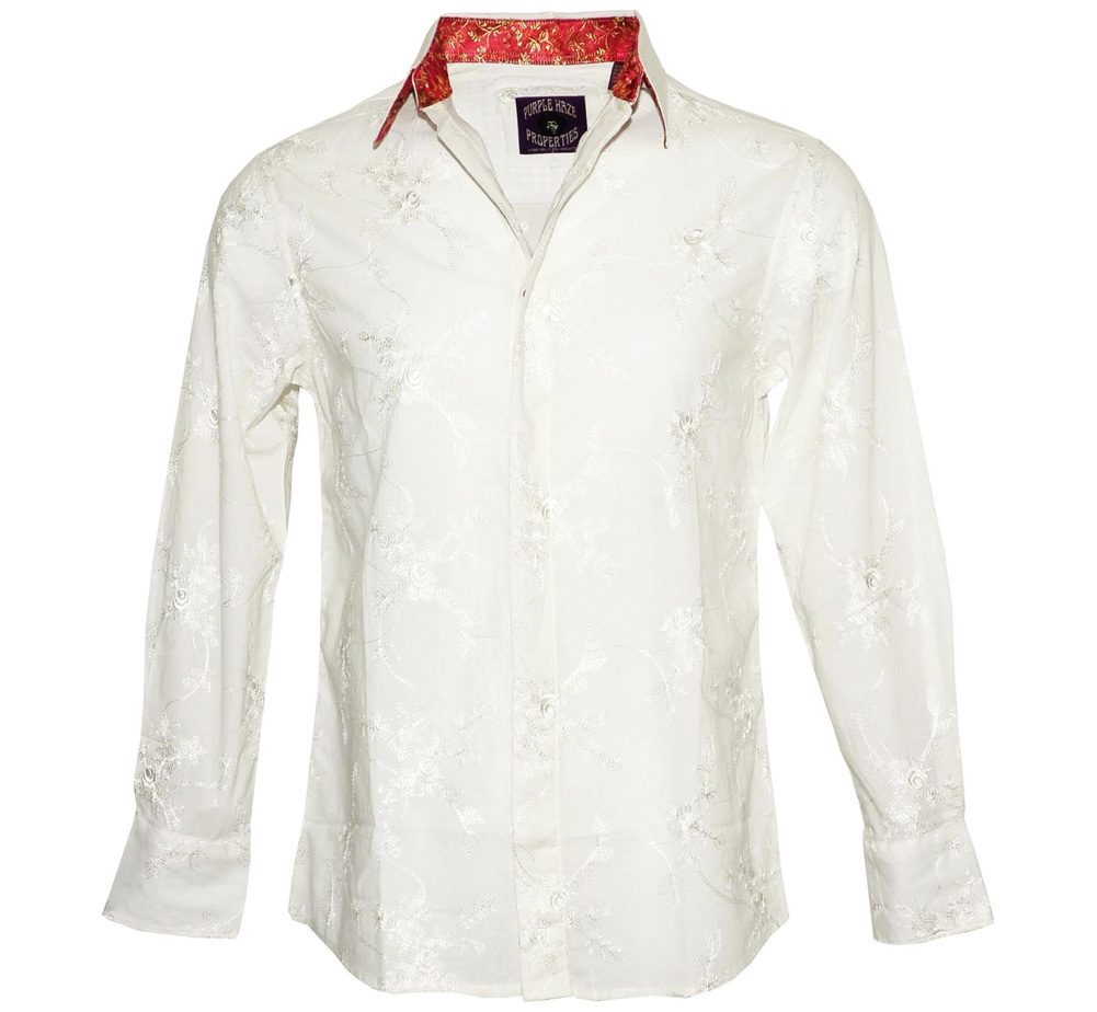 [JIMI HENDRIX COLLECTION] Room Full of Mirrors Dress Shirt (White)
