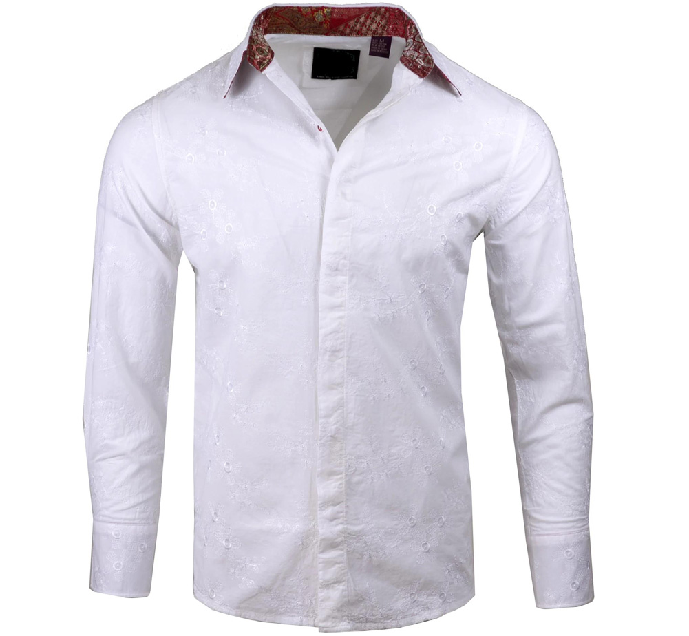 [JIMI HENDRIX COLLECTION] Freak on a Leash Dress Shirt (White) [RRJH1108WHT]