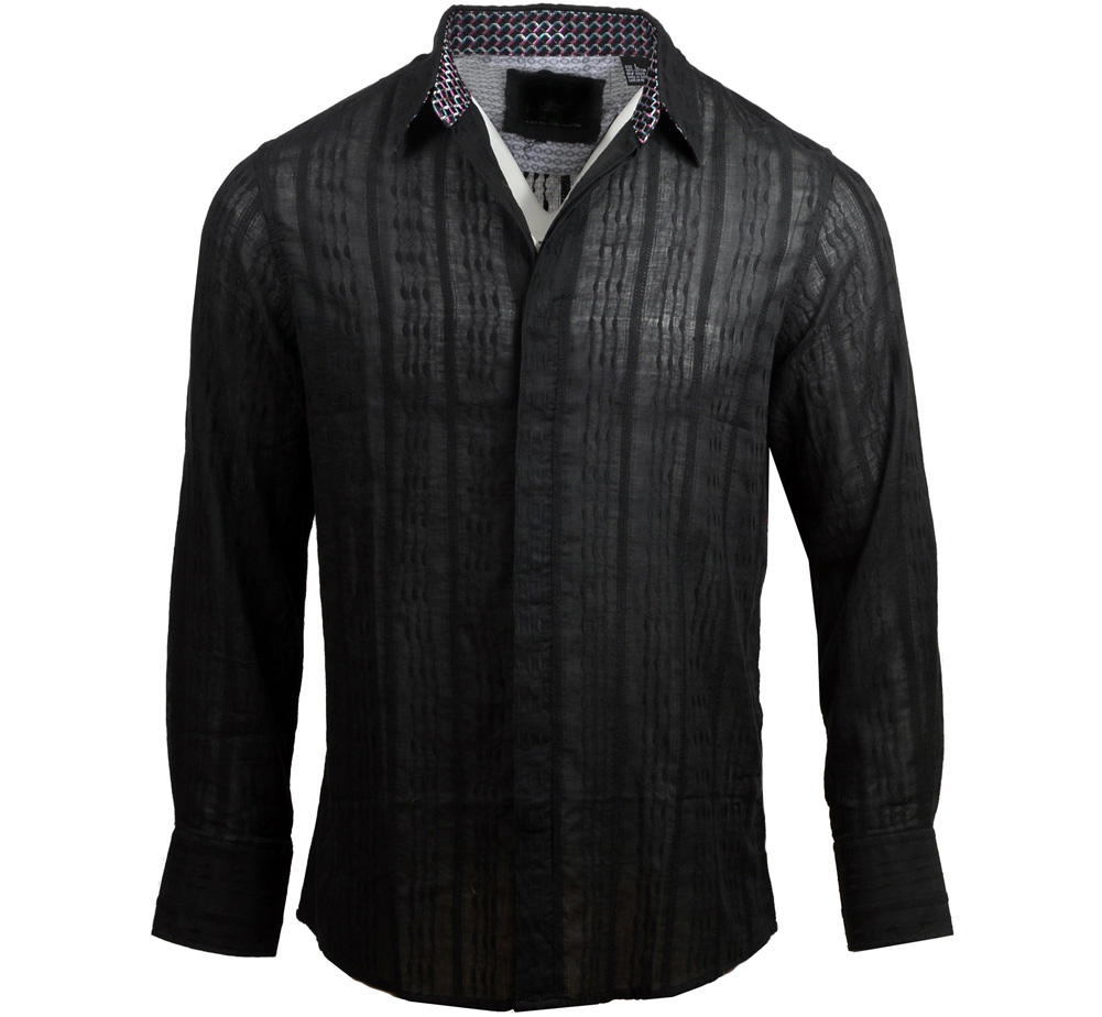 [JIMI HENDRIX COLLECTION] Who Knows Dress Shirt (Black) [RRJH1117B]