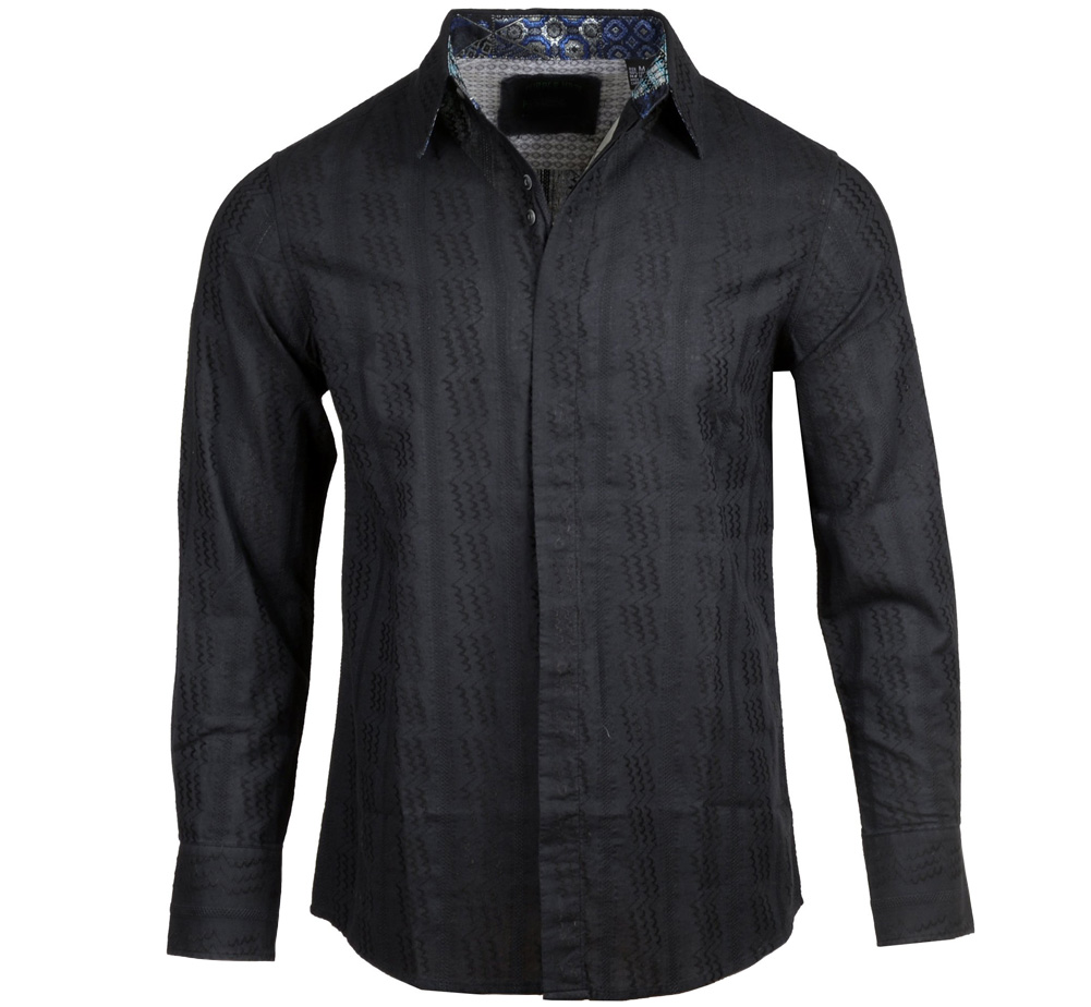 [JIMI HENDRIX COLLECTION] Dolly Dagger Dress Shirt (Black) [RRJH1126B]