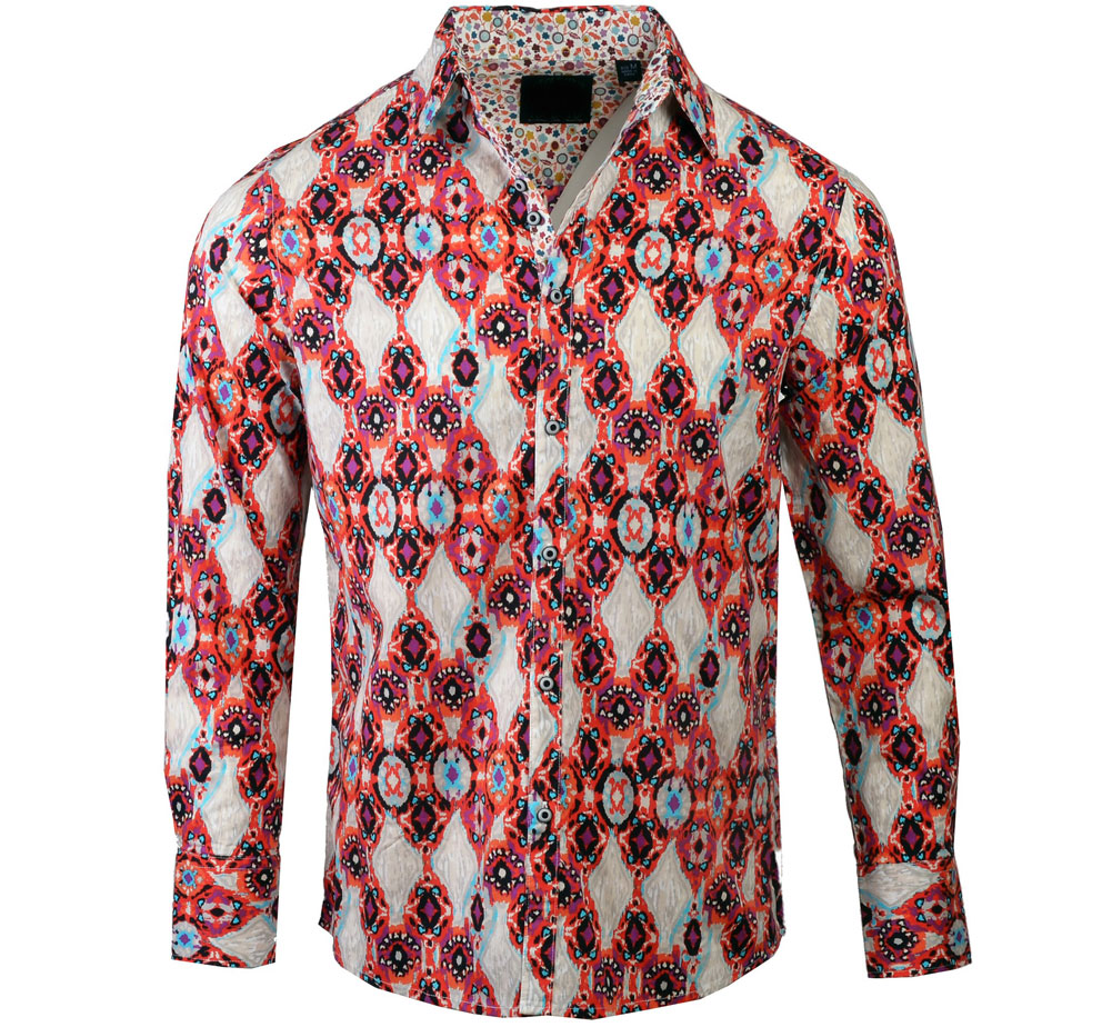 [JIMI HENDRIX COLLECTION] Basket Case Dress Shirt (Orange) [RRJH1173O]