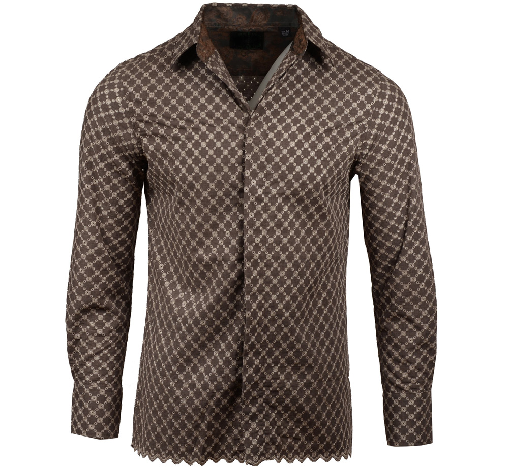 [JIMI HENDRIX COLLECTION] Tush Dress Shirt (Brown) [RRJH1177BRN]