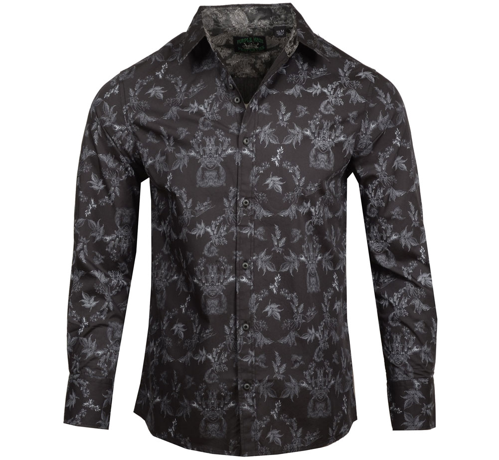 [JIMI HENDRIX COLLECTION] Drifter's Escape Dress Shirt (H-Black) [RRJH1184-H-BLACK]