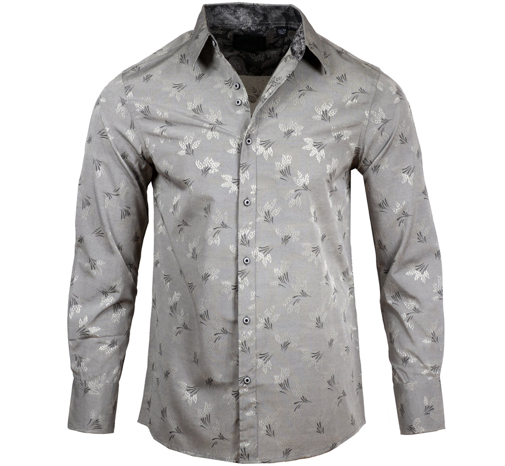 [JIMI HENDRIX COLLECTION] Hey Joe Dress Shirt (E Grey) [RRJH1184-E-GREY]