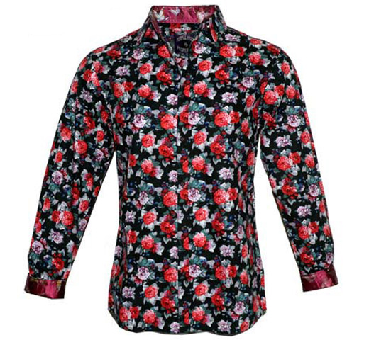 [JIMI HENDRIX COLLECTION] Still Raining Still Dreaming Dress Shirt (Red)
