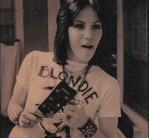 【Worn Free】 Joan Jett / Blondie Tee (Light Blue)