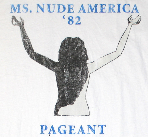 【Worn Free】 Joe Cocker / Ms. Nude America '82 Tee (Natural White)