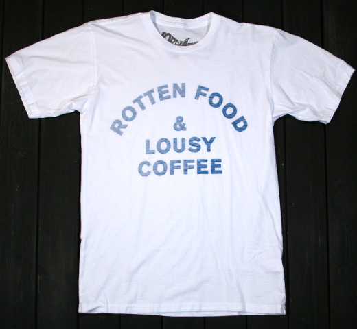 【Worn Free】 Joe Cocker / Rotten Food Tee (White)