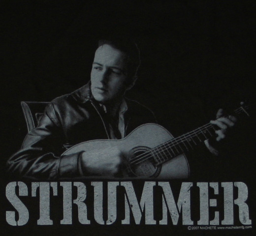 Joe Strummer / Portrait Tee (Acoustic Guitar)