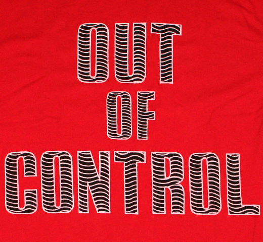 【Worn Free】 Joe Strummer / Out of Control Tee (Red)