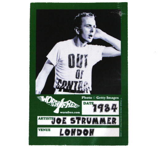 【Worn Free】 Joe Strummer / Out of Control Tee (Black)