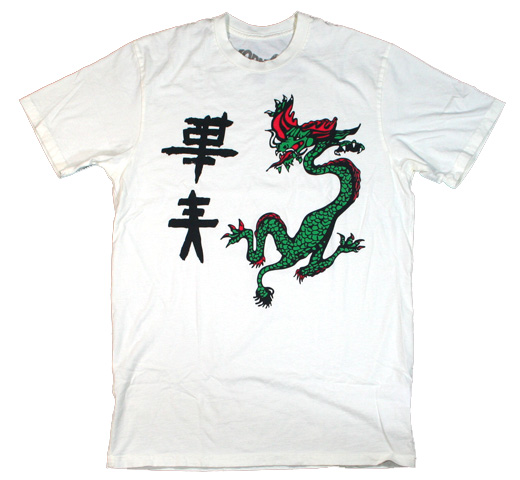 【Worn Free】 Joe Strummer / Dragon Tee (Eggshell)