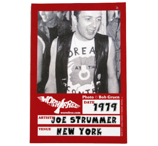【Worn Free】 Joe Strummer / Dread at the Control Tee (White)
