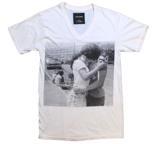 【Joe Szabo】 Kiss V-neck Tee (Off White)