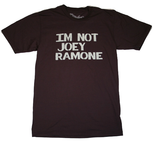 【Worn Free】 Joey Ramone / IM NOT JOEY RAMONE Tee (Black)