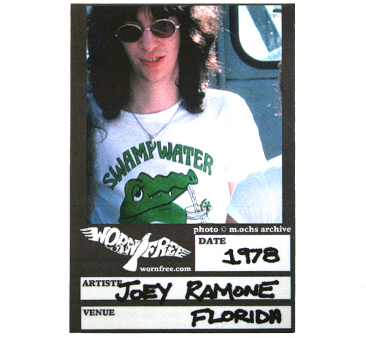 【Worn Free】 Joey Ramone / Swampwater Tee (Heather Grey)
