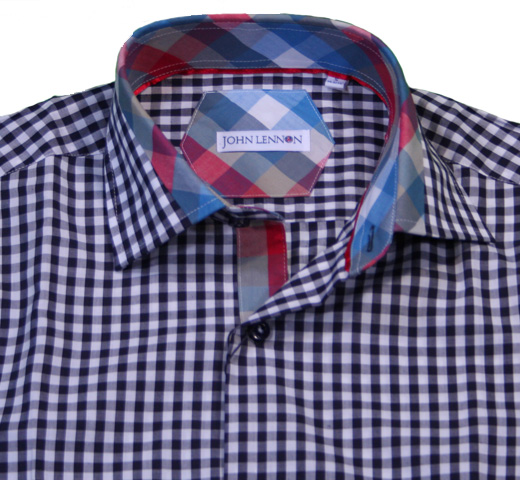 John Lennon Dress Shirt (Gingham Check) [JL110]