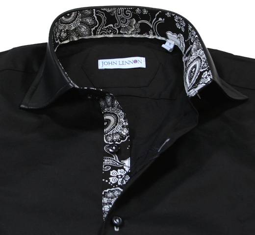 John Lennon Dress Shirt (Black) [JL121]