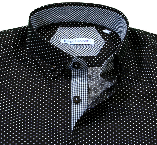 John Lennon Dress Shirt (Polka Dot) [JL130]