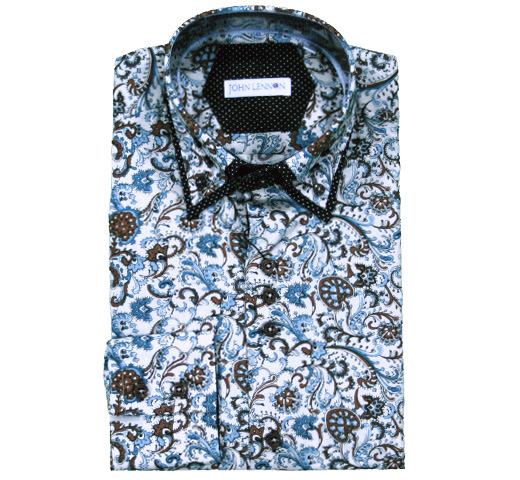 John Lennon Dress Shirt (Paisley) [JL144]