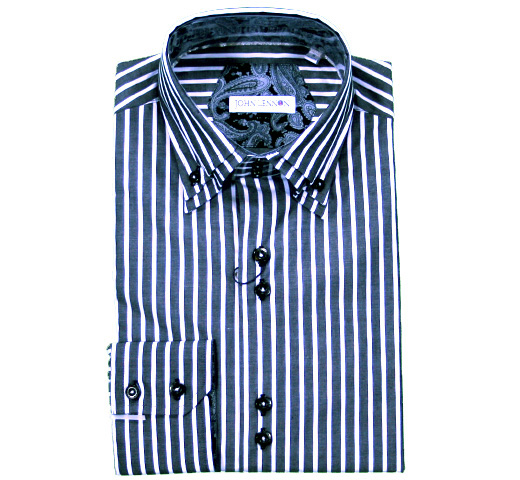 John Lennon Dress Shirt (Stripe) [JL148]