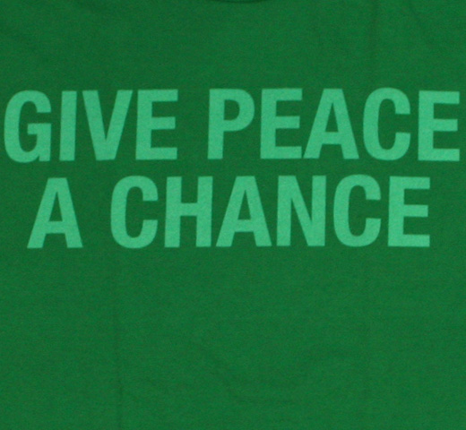 John Lennon / Give Peace a Chance Tee (Green)
