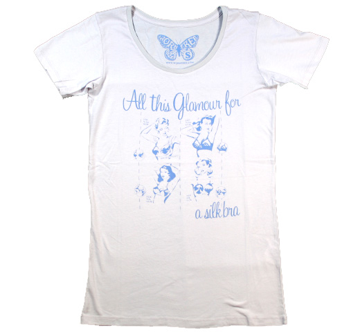 【Worn Free】 John Lennon / Glamour Scoop Neck Tee (Washed Blue) (Womens)