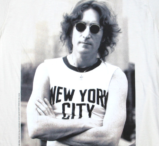 John Lennon / New York City Tee (Vintage White)